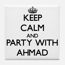 Keep Calm and Party with Ahmad Tile Coaster