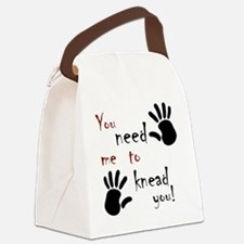 2-need to knead2 Canvas Lunch Bag
