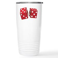 retroRedDice1 Travel Mug