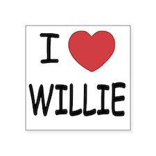 """WILLIE Square Sticker 3"""" x 3"""""""