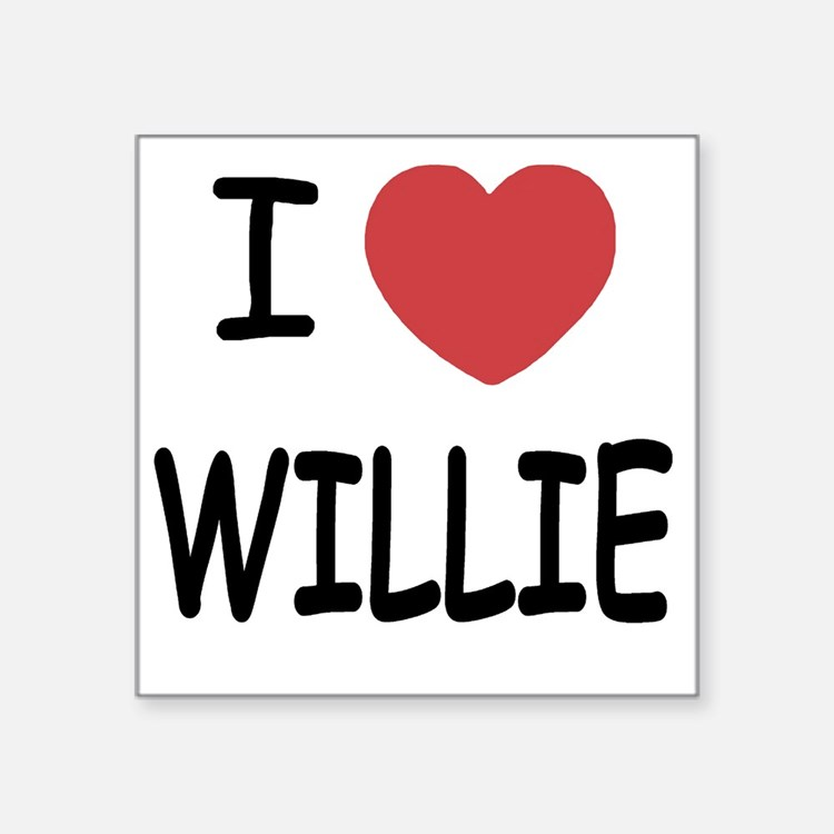 "WILLIE Square Sticker 3"" x 3"""