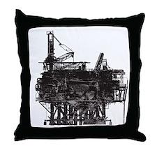 VintageOilRig1 Throw Pillow