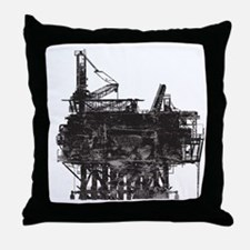 VintageOilRig1 Throw Pillow