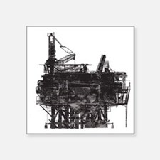 "VintageOilRig1 Square Sticker 3"" x 3"""