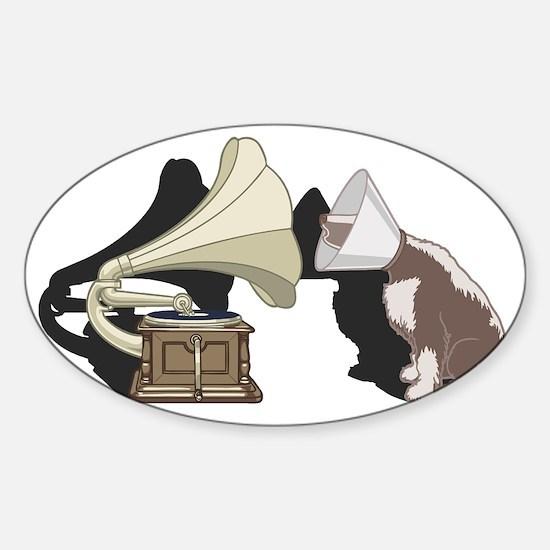 cone-dog-T Sticker (Oval)