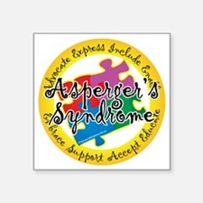 "Asperger-Syndrome-Puzzle-Pi Square Sticker 3"" x 3"""
