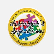 """Asperger-Syndrome-Puzzle-Pin 3.5"""" Button"""