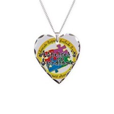 Asperger-Syndrome-Puzzle-Pin Necklace Heart Charm