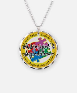 Asperger-Syndrome-Puzzle-Pin Necklace