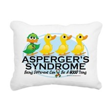 Aspergers-Ugly-Duckling Rectangular Canvas Pillow