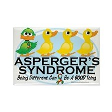 Aspergers-Ugly-Duckling Rectangle Magnet