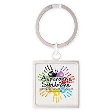 Aspergers-Handprint Square Keychain