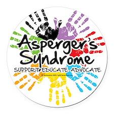 Aspergers-Handprint Round Car Magnet