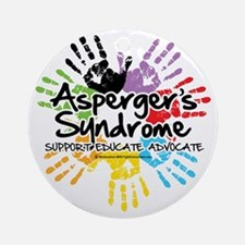 Aspergers-Handprint Round Ornament