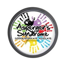 Aspergers-Handprint Wall Clock