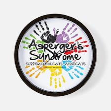 Aspergers-Handprint Wall Clock