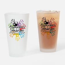 Aspergers-Handprint Drinking Glass