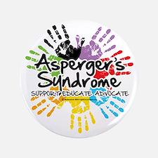 """Aspergers-Handprint 3.5"""" Button"""