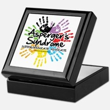 Aspergers-Handprint Keepsake Box