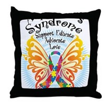 Aspergers-Butterfly-3 Throw Pillow