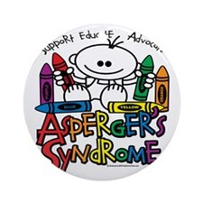 Aspergers-Syndrome-Crayons Round Ornament
