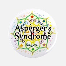"Aspergers-Syndrome-Lotus 3.5"" Button"