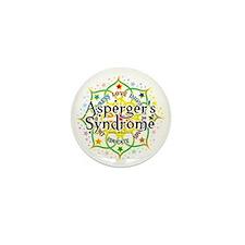 Aspergers-Syndrome-Lotus Mini Button