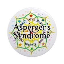 Aspergers-Syndrome-Lotus Round Ornament