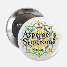 "Aspergers-Syndrome-Lotus 2.25"" Button"