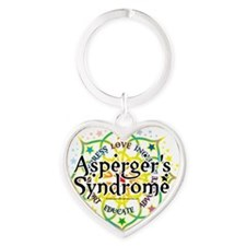 Aspergers-Syndrome-Lotus Heart Keychain