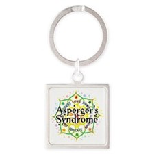 Aspergers-Syndrome-Lotus Square Keychain