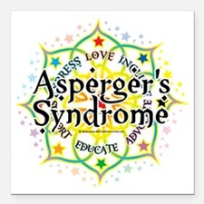 "Aspergers-Syndrome-Lotus Square Car Magnet 3"" x 3"""
