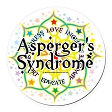 Aspergers-Syndrome-Lotus Round Car Magnet