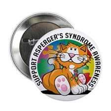 "Aspergers-Syndrome-Cat 2.25"" Button"