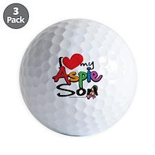 I-Love-My-Aspie-Son Golf Ball