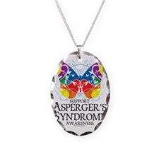 Aspergers-Syndrome-Butterfly Necklace Oval Charm