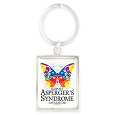 Aspergers-Syndrome-Butterfly Portrait Keychain