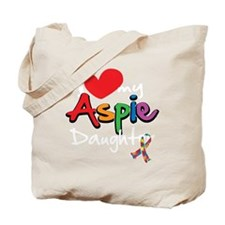 I-Love-My-Aspie-Daughter-blk Tote Bag