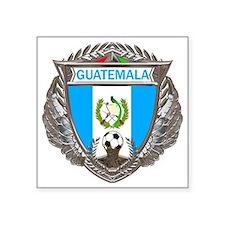 "Guatemala Soccer Gym Bag Square Sticker 3"" x 3"""