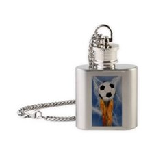 Lighting strike Flask Necklace