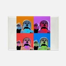 Buddha Pop Art Warhol style Rectangle Magnet