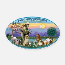 OVAL - St Francis-Pocono - Blessin Oval Car Magnet