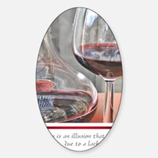 10 RED WINE QUOTE Sticker (Oval)