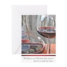 10 RED WINE QUOTE Greeting Card