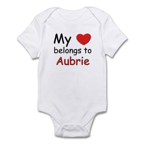 My heart belongs to aubrie Infant Bodysuit