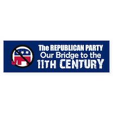 BRIDGE TO 11TH CENTURY Bumper Car Sticker