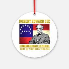 Robert E Lee -in command Round Ornament