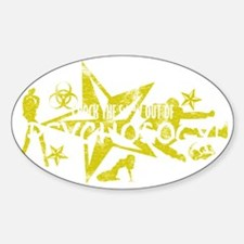 PSYCH WHT Sticker (Oval)