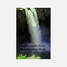 Snoqualmie Falls Washington State Rectangle Magnet