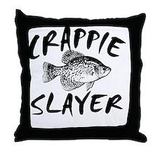 CRAPPIE SLAYER 4 WHITE Throw Pillow
